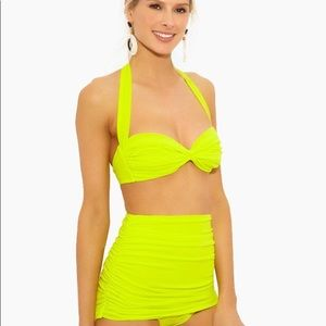 NEW Norma Kamali High Waisted Sweetheart Bikini